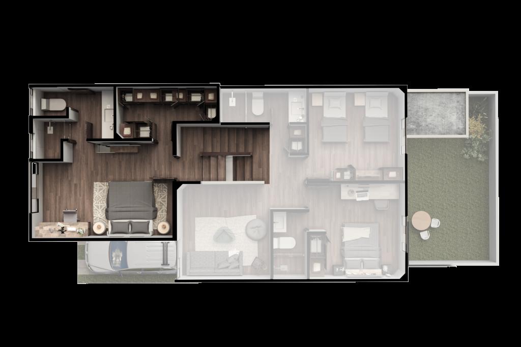 Casa Buganvilia Plano Amueblado Nivel 3